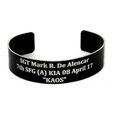 New Custom Military Laser Engraved KIA Memorial Remembrance Bracelet READ ALL!!!