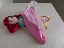 Disney Princess MERMAID ARIEL & AURORA Topsy Turvy Flip Reversible Plush Doll