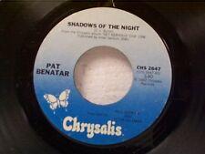 "PAT BENATAR ""SHADOWS OF THE NIGHT / THE VICTIM"" 45 NEAR MINT"