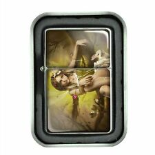 Windproof Oil Lighter with Gift Box Fairies Design 09 Celtic Mystical Creature