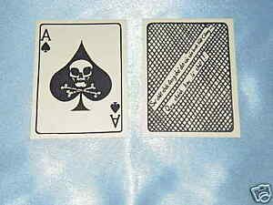 TW0( 2) EACH VIETNAM WAR ACE OF SPADES DEATH CARD  ONLY $ 5.00 SAME DAY SHIPPING