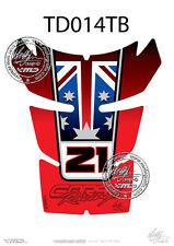 Ducati 848 EVO 1098 1198 Troy Baliss Tankpad Protector Red Italia