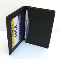 Black Men Genuine Leather Window ID/Credit/business Card Small Slim Wallet ID