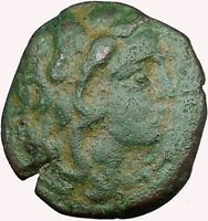 Lysimacheia in Thrace 309BC Ancient Greek Coin Young Hercules NIke  i33978