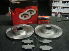 RENAULT CLIO MK2 1998-2004 BRAKE DISC MINTEX  VENTED DISCS PADS 259MM BOSCH