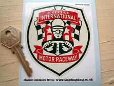 RIVERSIDE INTERNATIONAL MOTOR RACEWAY Retro Vintage Classic Racing Car STICKER