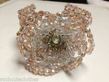 Canadian Jeweler Rita D Australian Crystal Flower Bracelet in Holt Renfrew Pink