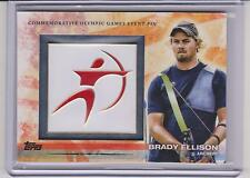 RARE 2012 TOPPS OLYMPIC BRADY ELLISON EVENT PIN CARD #ELP-BE ~ ARCHERY