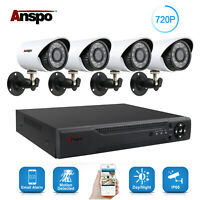4CH 1080N AHD DVR Outdoor 1500TVL IR-CUT Video Recorder CCTV Security Camera Kit