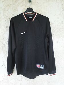 Maillot goal NIKE n°1 vintage années 90 trikot keeper shirt noir maglia S