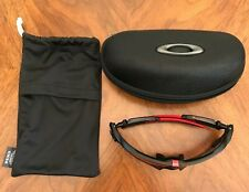 $216 Mens Oakley Jaw Breaker Sunglasses Black Frame Prism Lens Cycle Glasses
