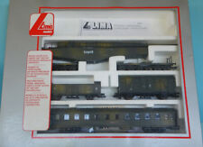 More details for lima 149705l ho 1/87 ww2 german k5 gun, coach and wagons (no loco) in box