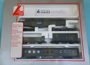 Lima 149705L HO 1/87 WW2 German K5 Gun, coach and Wagons (No Loco) in box