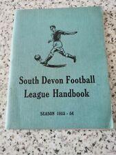 1953/1954 South Devon Football League Handbook