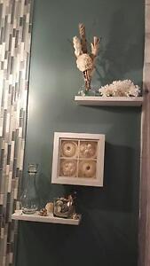 floating shelves wall White kiln dried poplar wood , 12 x 4 x 3/4 set of 2