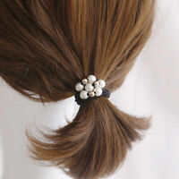 Elegant Faux Pearl Three Layers Hair Ring Rope Women Elastic Ponytail Holder Pre
