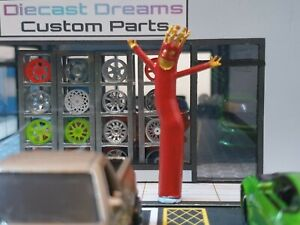 1/64 Scale Resin Crazy Waving Inflatable Man Hot Wheels Matchbox Diorama