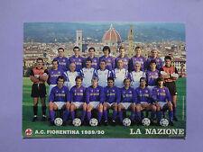 CARTOLINA UFFICIALE CARTONATA FIORENTINA SQUADRA TEAM 1989-90 BAGGIO NEW-FIO