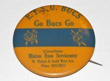 VTG 1970s ETSU Buccaneers/Bucs ESSO Gas/Oil Minton Servicecenter Football Pin