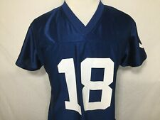 Peyton Manning Indianapolis Colts 18 Womens Large Blue Jersey NFL Football