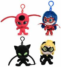 Keyring Miraculous Original Ladybug Chat Noir Tikki Plagg Plush Official
