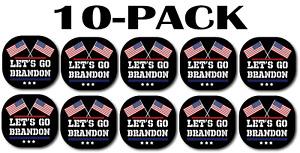 Let's Go Brandon Sticker Car Truck Bumper Vinyl Decal FJB Fck Joe Biden 10-Pack