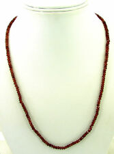 52 Ct Natural Garnet Gemstone Rondelle Untreated Beads Necklace String - B165