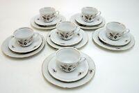 Kaffeeservice Teeservice Orla Triptis Porzellan 6 Personen 18 teilig Rosen Dekor