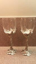 NEW OLD STOCK SEAGULL PEWTER ETAIN ZINN 1995 ROSE COLLECTION WINE  TR -7SGLASSES