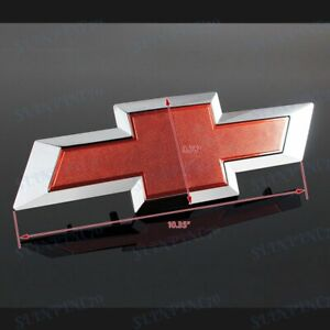Red Front Grill Bowtie Emblem OEM#22786809 For 2014-2015 GM Chevy Silverado