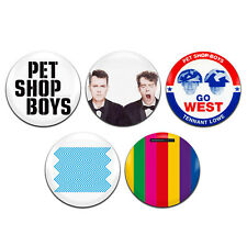 5x Pet Shop Boys Synth Pop 80's Band 25mm / 1 Inch D Pin Button Badges