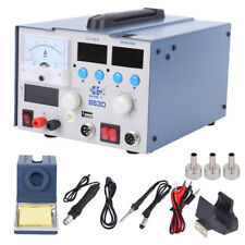 3in1 863D Soldering ReWork Station SMD Solder Iron Hot Air Gun & DC Power Supply