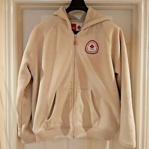 Hudson Bay Co. Canada '06 Olympic Beige Faux Suede Sherpa Lined -Hood Size XL