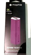 NEW Mophie Power Reserve 1X  2600 mAh Compact External Battery Purple