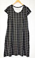 Zizzi vestido talla s ❤ Square Comb. negro nuevo