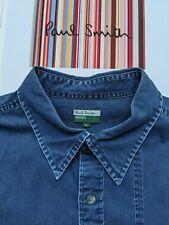 PAUL SMITH MEN'S Denim SHIRT Size XL - VERY COOL / Roomy shirt / Dark Denim