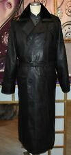 Toller  Ledermantel mit Fellkragen für stilvolle Herren Echtes Leder Gr.56 NEU