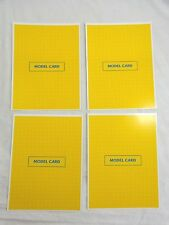 LEGO CREATOR Replacement Game Parts 4 YELLOW MODEL CARDS 1999 Rose Art