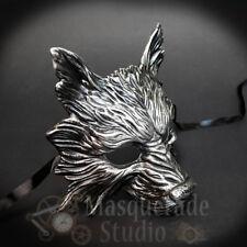 Wolf Animal Spirit Halloween Costume Wall Decoration Masquerade Mask [Silver]