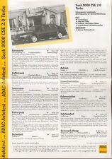 Saab 9000 CSE 2.0 Turbo ADAC Prospekt 8 97 brochure 1997 Auto PKWs Schweden