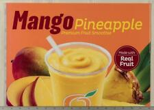 Dairy Queen Poster Backlit Plastic Orange Julius Mango Pineapple 12x17 dq2