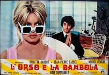 BEAR AND THE DOLL L'OURS ET LA POUPEE Italian fotobusta movie poster 2 BARDOT