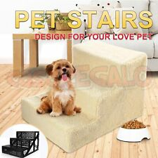 3 Steps Pet Soft Plush Steps Ladder Dog Cat Washable Cover Stairs Ramp