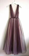 H&M Conscious Exclusive 2017 Plum Tulle Dress UK6 EU32