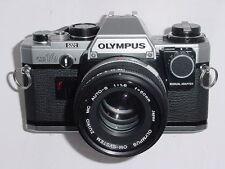 Olympus OM10 35mm Film Camera with Olympus 50/1.8 ZUIKO Lens + Adapter