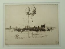 ALFRED HARTLEY R.E. original signed etching 'IN PICARDY' from the edition of 30