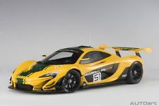 AUTOart 81544 - 1/18 McLAREN P1 GTR - YELLOW / GREEN STRIPES #51 - NEU