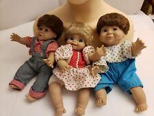 "3 Vintage Syndee's Crafts LIFELIKE 10"" Dolls Cloth Body ""CHARLEE"" ""TAMMY"" GABBY"""