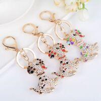 Women Ornament Gift Rhinestone Key Chain Key Ring Handbag Pendant Key Holder