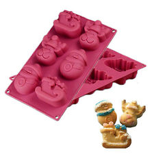 Christmas Snowman Reindeer Soap Cake Mold Chocolate Silicone Mould